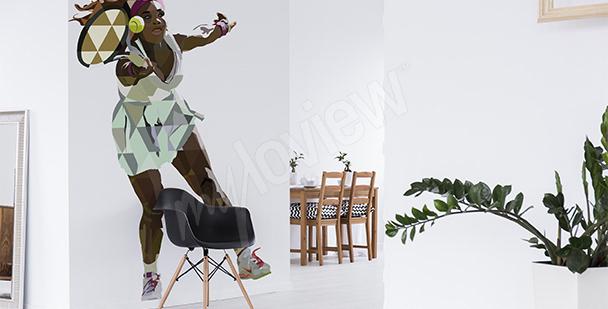 Sportovní nálepka Serena Williams