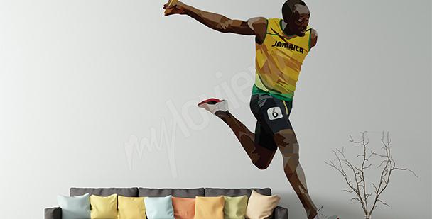 Sportovní nálepka Usain Bolt