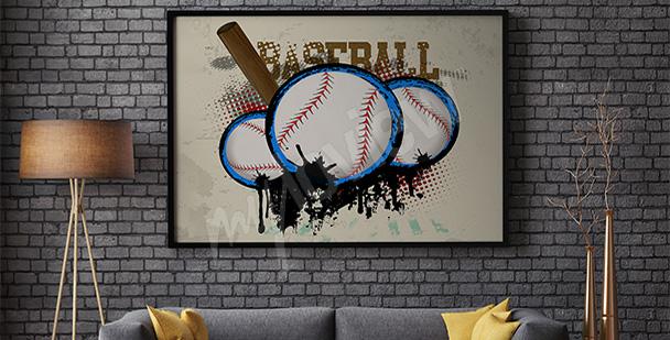 Sportovní plakát baseball