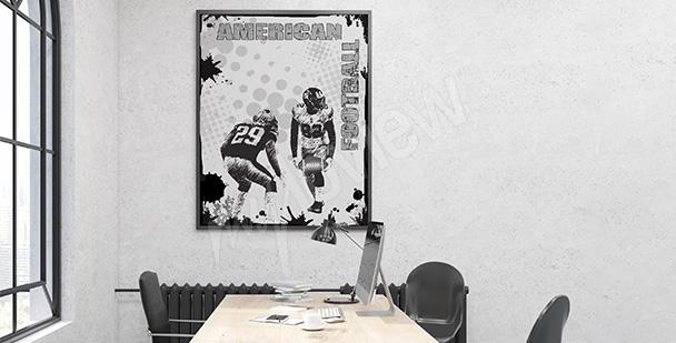 Sportovní plakát pro teenagera