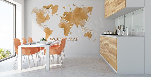 Staře působící nálepka mapa světa