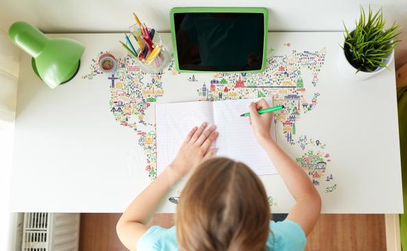 Stolní nálepka s mapou