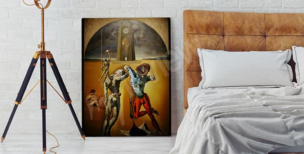 Surrealistický obraz do ložnice