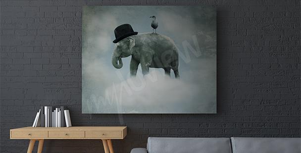 Surrealistický obraz slon