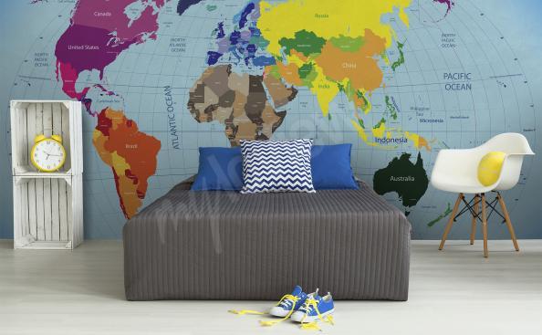 Tapeta mapa světa