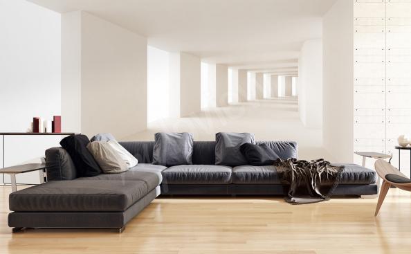 Tapeta tunel ve obývacím pokoji
