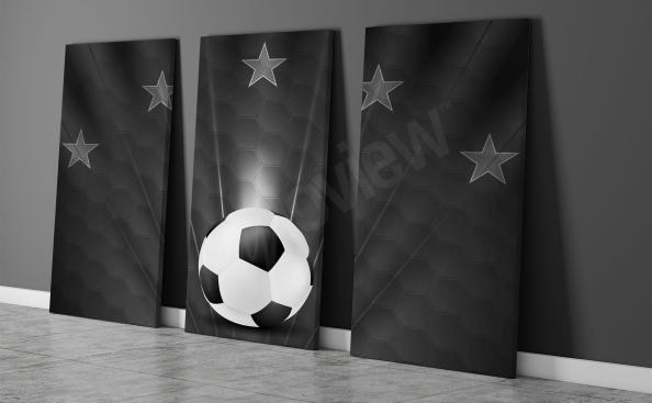 Triptych fotbalové míče