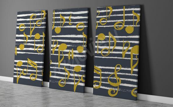 triptych s notami