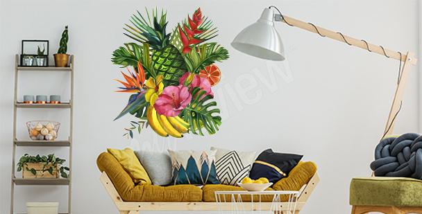 Tropická nálepka do obývacího pokoje