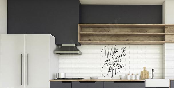 Typografická nálepka do kuchyně