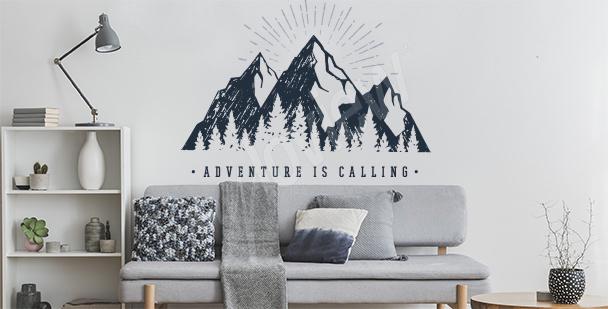 Typografická nálepka hory