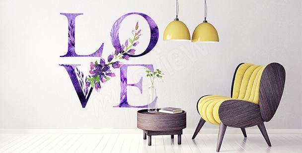 Typografická nálepka: láska