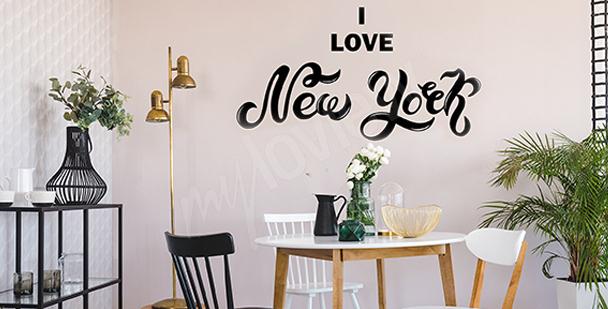 Typografická nálepka New York