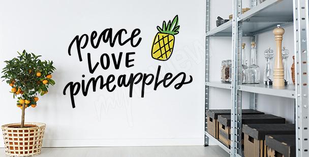 Typografická nálepka s ananasem