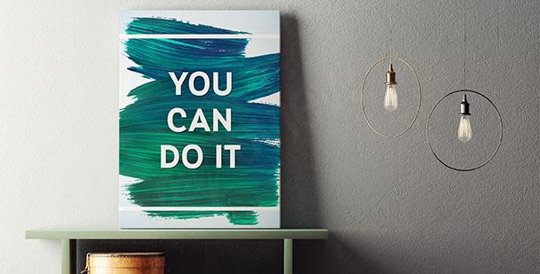 Typografický motivační plakát