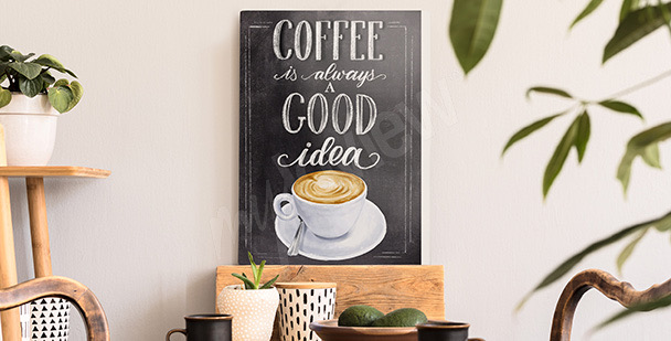 Typografický obraz káva