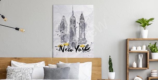 Typografický obraz New York