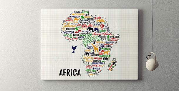 Typografický plakát Afrika