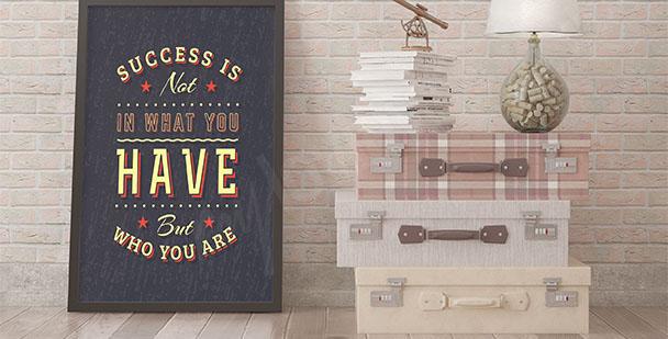 Typografický plakát o úspěchu