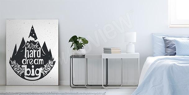 Typografický plakát s lesem