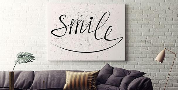 Typografický plakát usmějte se