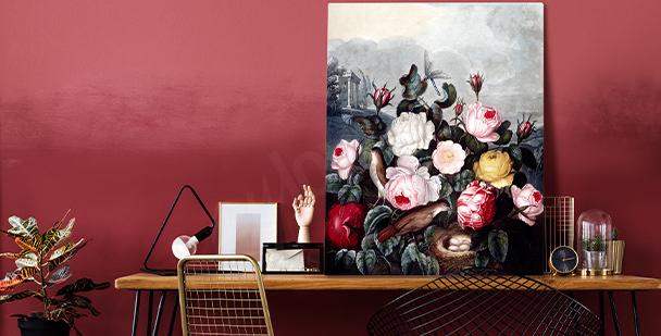 Výrazný obraz floral style