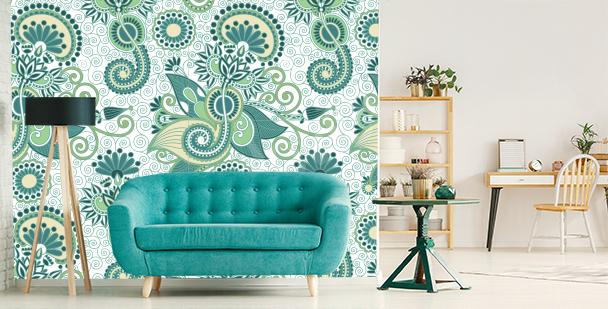 Zelená fototapeta do obývacího pokoje