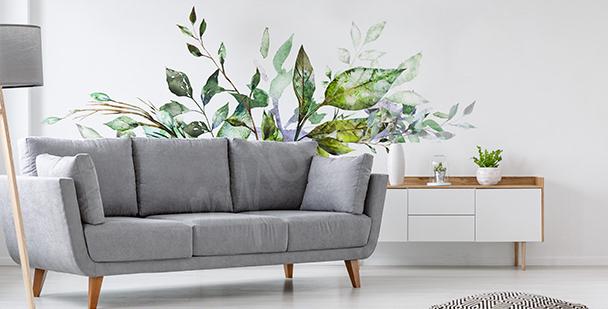 Zelená nálepka do obývacího pokoje